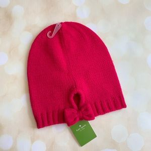 Kate spade slouchy beanie with bow
